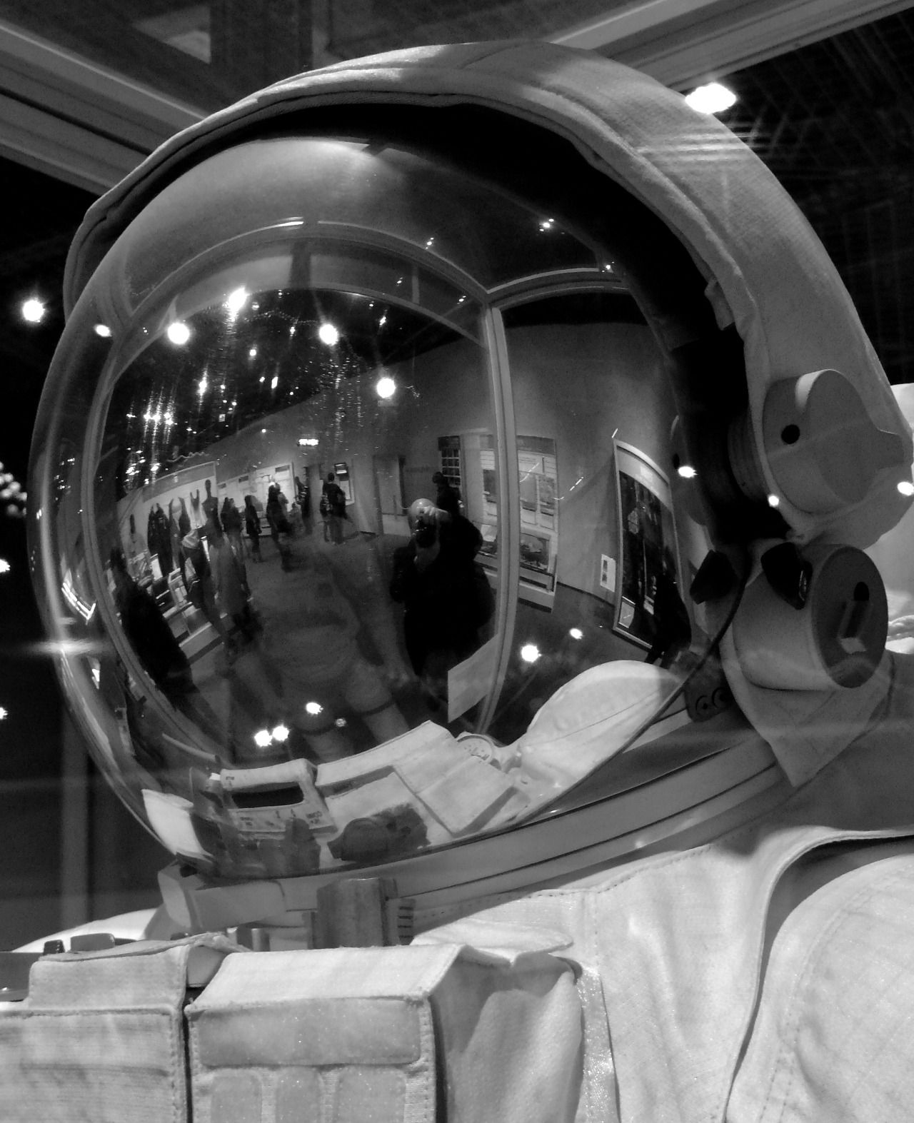 Selfie on Gort-like helmet