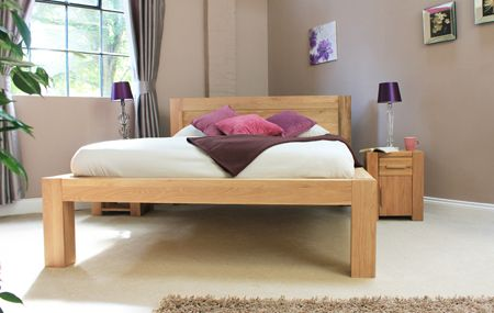 Bedroom Ideas Oak Furniture atlas solid oak furniture - bedroom - double bed frame - cushions