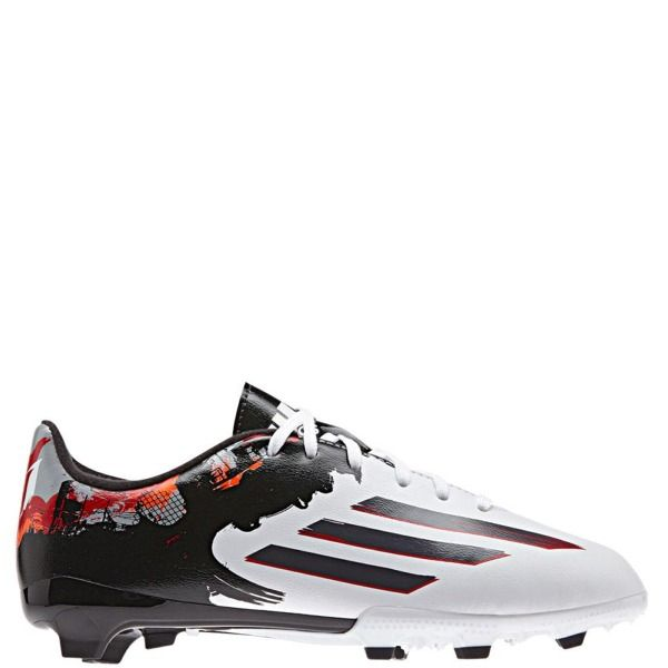 0edf421ea2d7 adidas Messi 10.3 FG J White/Granite/Scarlet Youth Soccer Cleats - model  B23885