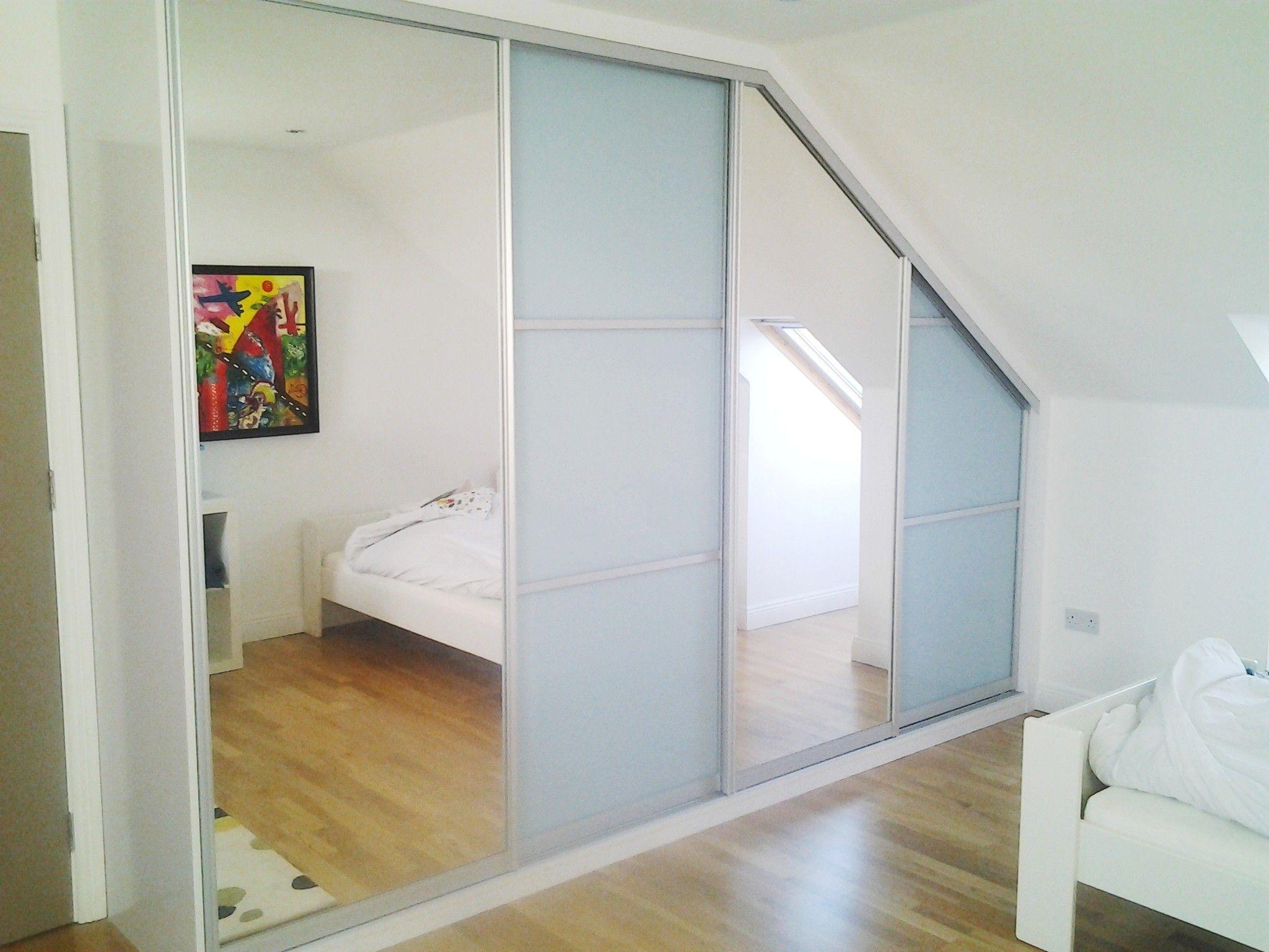 Angled Ceiling Sliding Wardrobe Sliding Wardrobe Sliding Wardrobe Doors Home Upgrades