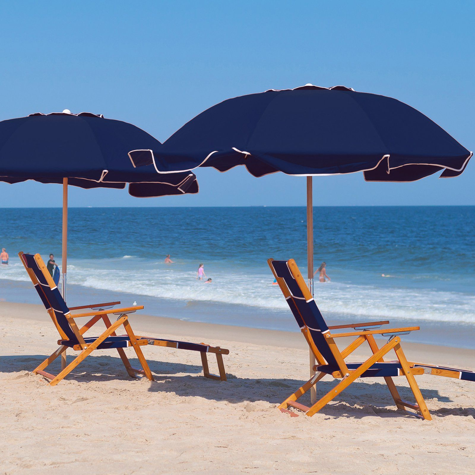 Frankford Umbrella 7 5 Ft Commercial Grade Beach With Marine Fabric And Ashwood Pole 199 99 Hayneedle