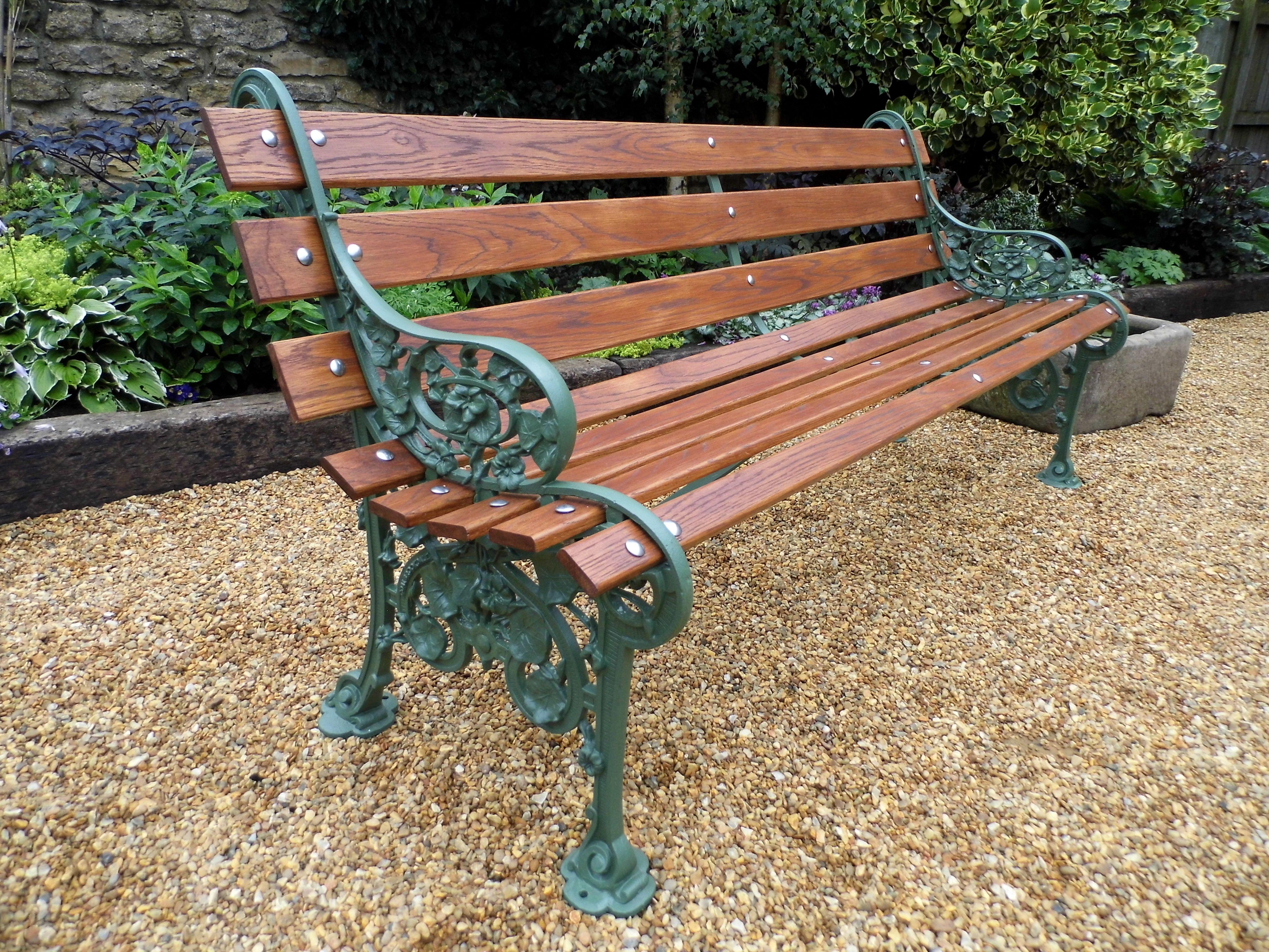 Coalbrookdale Nasturtium Slatted Bench Fully Restored By 400 x 300