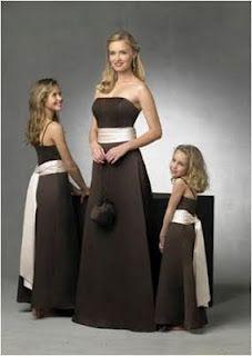 Chocolate Brown Bridesmaid Dresses I Like The Chocolate Brown W Cream Accent Ribbons Bridesmaid Dresses Brown Bridesmaid Dresses Black Bridesmaid Dresses