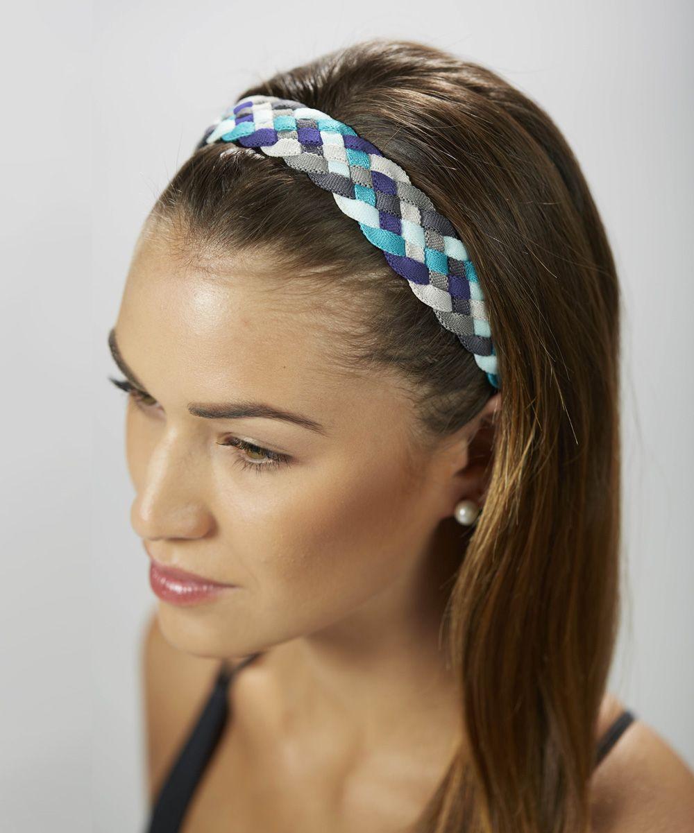 Royal blue mega braided headband hair accessories pinterest