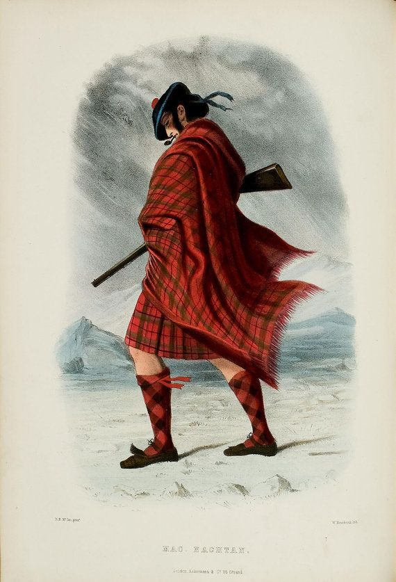 HIGHLAND CLAN SCOTLAND TARTAN MACMILLAN Painting Portrait Canvas art Prints