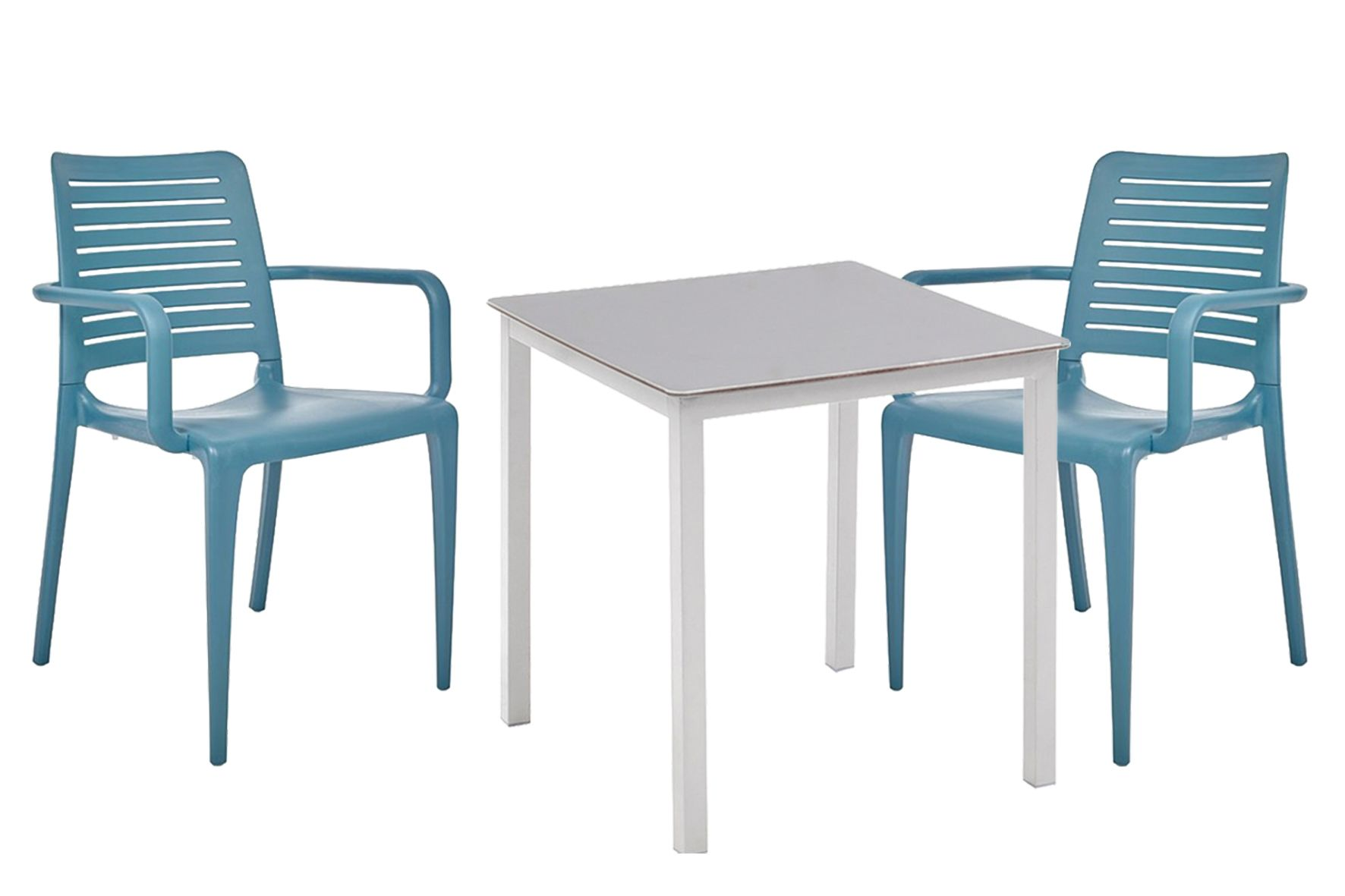 Conjunto Compuesto Por Una Mesa Y 4 Sillones Para Terraza