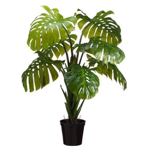5 39 split leaf philodendron monstera silk plant w pot philodendron monstera workspaces and. Black Bedroom Furniture Sets. Home Design Ideas