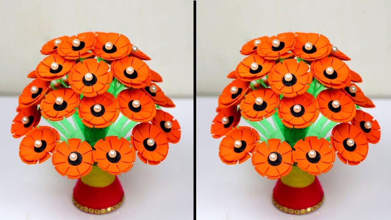 Guldasta Guldasta Banane Ki Vidhi New Handmade Foam Guldasta Waste Plast Bottle Crafts Handmade Foam Sheets