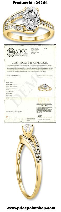 PricePointShop presents 0.67ctw Round Brilliant I-1 Quality G-H Color Diamond with Accent Stone White Diamonds Engagement Ring. Appraisal Certificate Included.  #diamondEngagementRing #Rings #Ring  #jewelry @pricepointshop http://www.pricepointshop.com/product.asp?idproduct=20364