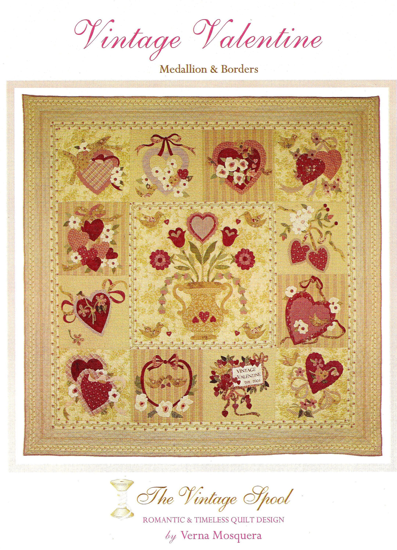 Vintage Valentine Quilt Pattern 72 X 72 Inch Quilt Pattern