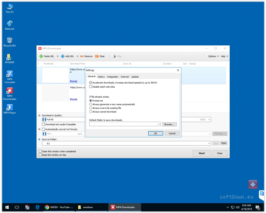 MP4 Downloader, Free Download softDown.eu Windows