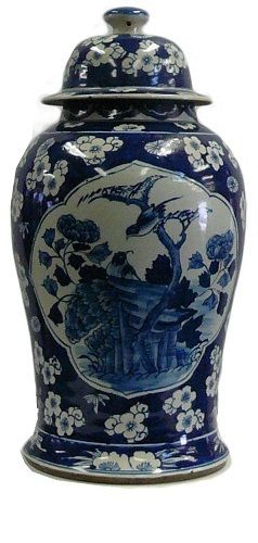 InStyle-Decor.com Chinese Blue & White Porcelain Temple Jars