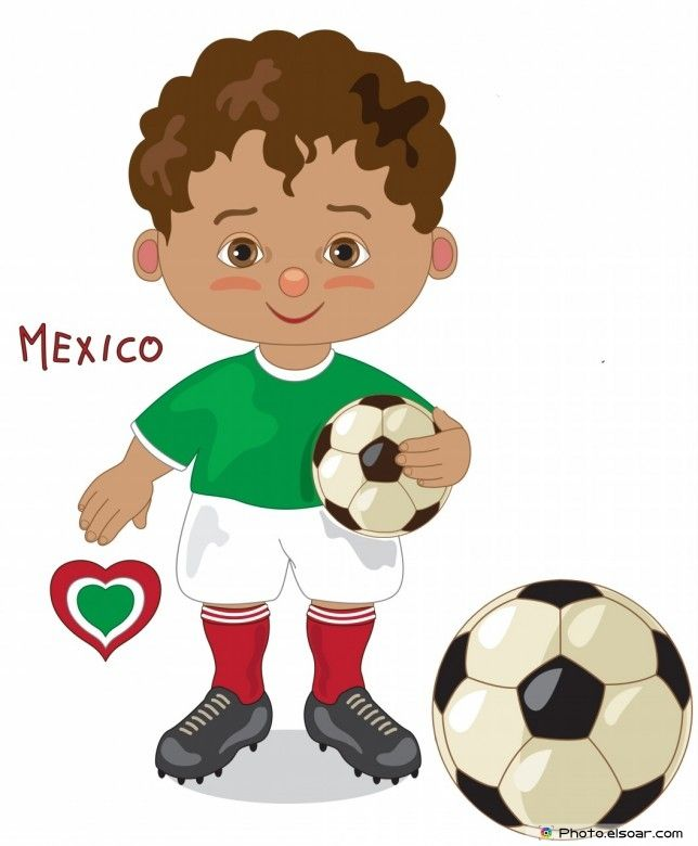 f9ecdd01b84 Mexico National Jersey, Cartoon Soccer Player | Kids Clip Art ...