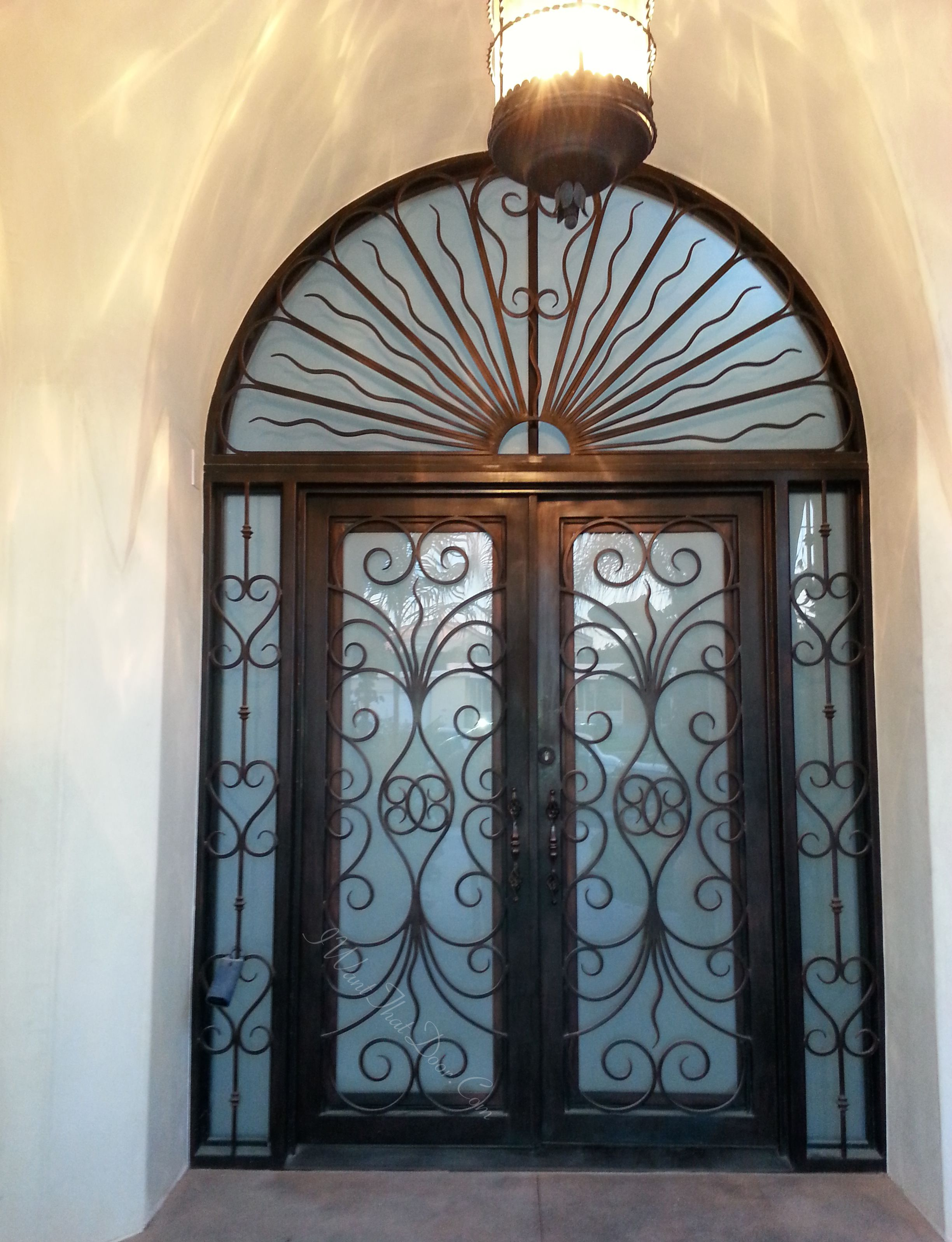 Superbe Revenna Wrought Iron Double Door With Sidelights And Transom Installed By  UID. Call Now And