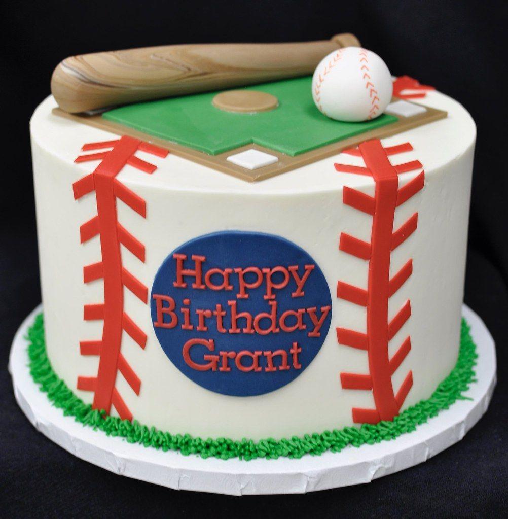 Amazing Baseball Themed Birthday Cake Baseball Birthday Cakes Baseball Funny Birthday Cards Online Fluifree Goldxyz