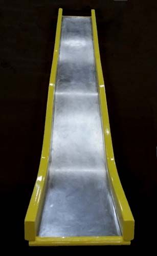 12 Foot Deck Height Straight Embankment Slide Wave Stainless Steel