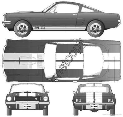 Resultado De Imagem Para Mustang Ford 65 Blueprint