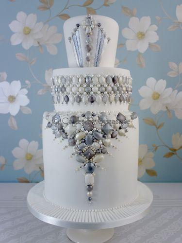 Pleasing Art Deco Jewels Cake Jewel Cake Art Deco Cake Cake Decorating Funny Birthday Cards Online Unhofree Goldxyz