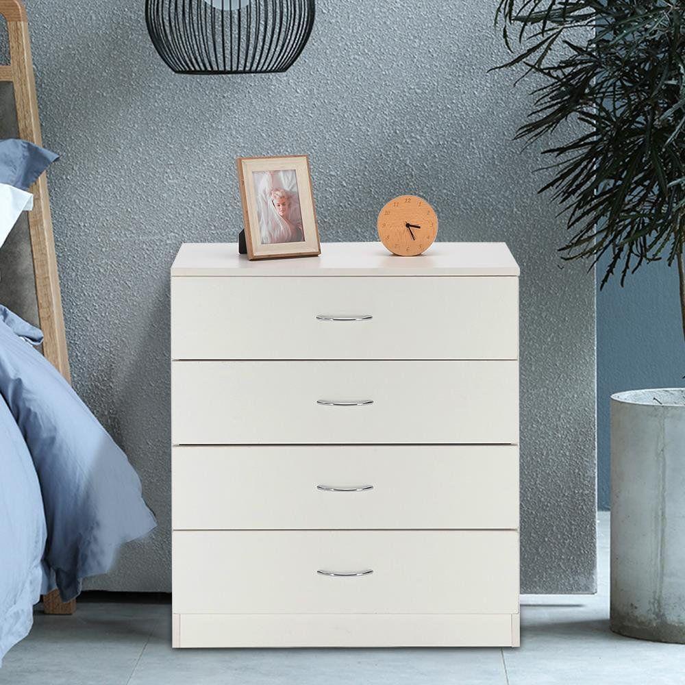 Winado Mdf Wood Simple 4 Drawer Dresser White With Metal Handles Walmart Com 4 Drawer Dresser Dresser Drawers Dresser As Nightstand [ 1000 x 1000 Pixel ]