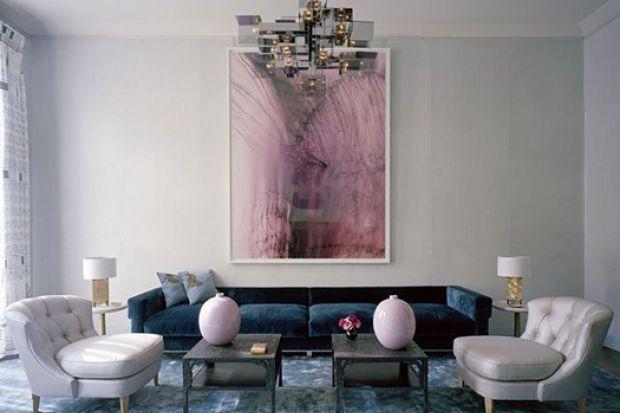 9 Ways We're Supersizing Paintings   California Home + Design #design // #interior // #livingroom