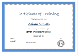 Training certificate template DOWNLOAD at httpwwwtemplateinncom