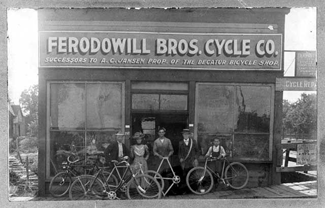 Ferodowill Brothers Bicycle Repair Shop 1890 Vintage Winkels Fiets Winkelinrichting