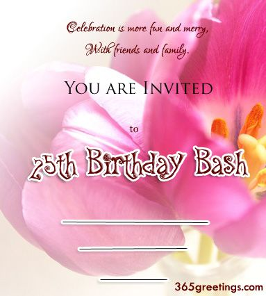 Birthday 25th Invitation Wording Your Fantastic Invitations Will Be More Elegant 4