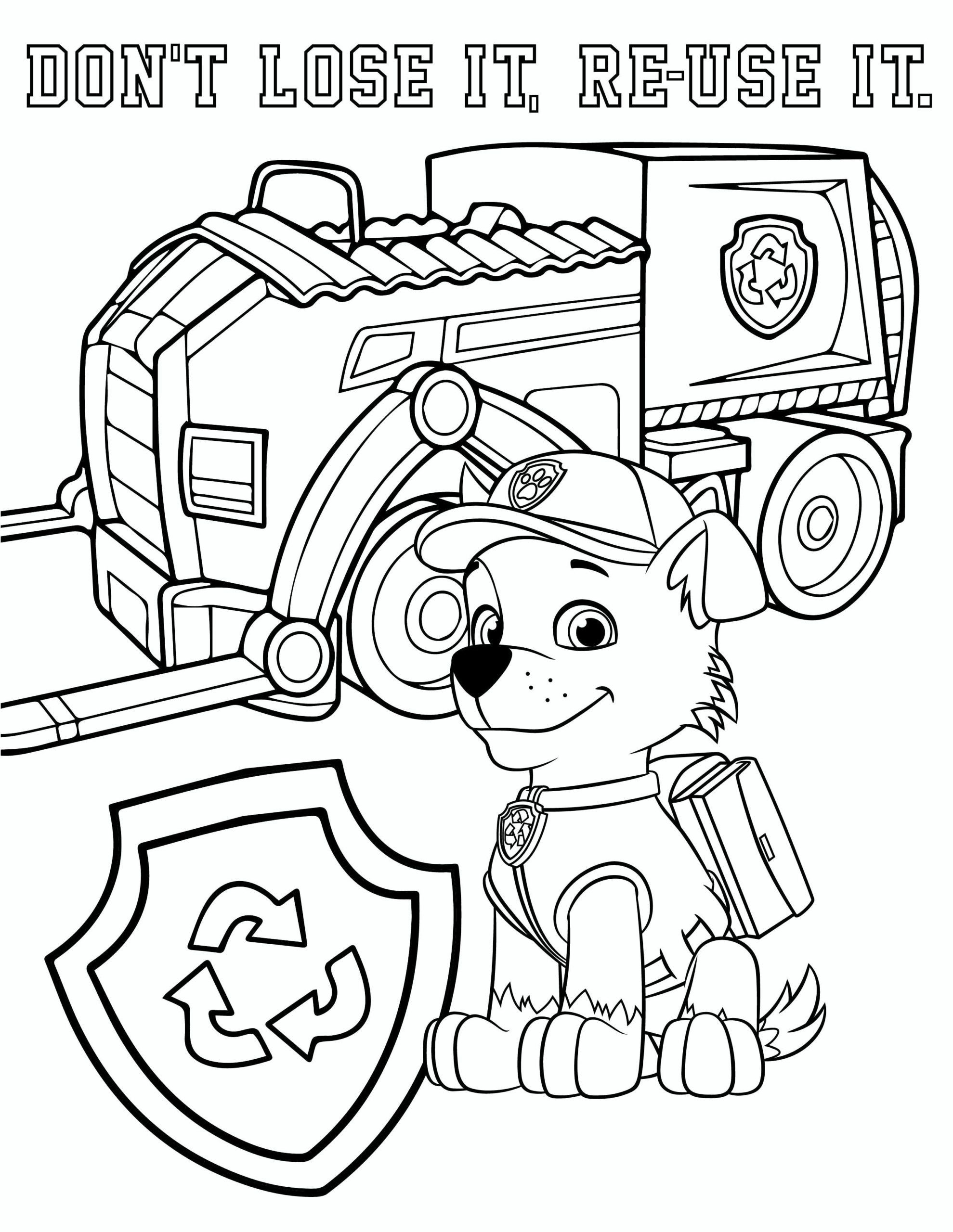 Paw Patrol Coloring Page in 2020 Paw