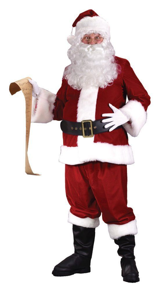 b5342f74dfd36 Costumes! Christmas Red Santa Suit Ultra Velvet Sz 40-48  FW  Santa ...