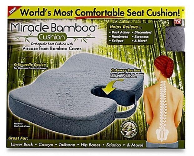 New Miracle Bamboo Cushion Keep Posture Relieve Pressure Orthopedic Foam Design Orthopedic Seat Cushion Cushions Outdoor Sectional Furniture