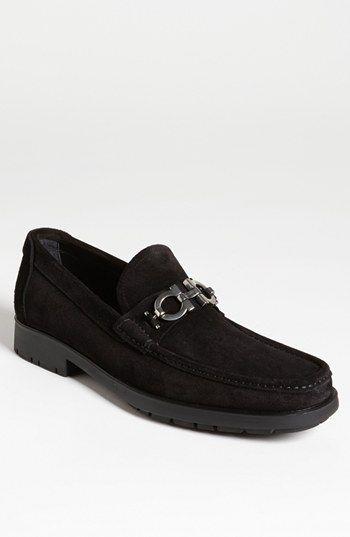 1ff19c4c48e Salvatore Ferragamo Master Loafer in black suede
