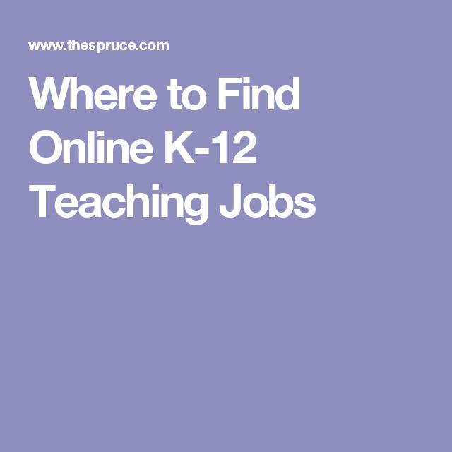 13 Places To Work At Home Teaching K 12 Home Teaching Online Teaching Jobs Teaching
