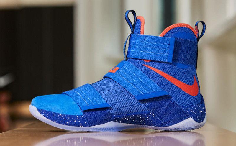 09fc3e79a3e Nike LeBron Soldier 10 Hardwood Classic Blue Orange
