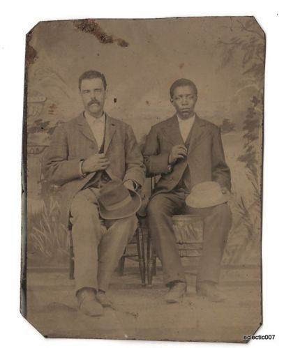Antique RARE Tintype Interracial Men White African American Dapper Dressers | eBay