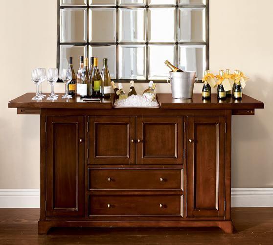 Elegant Torrens Bar Cabinet   Pottery Barn