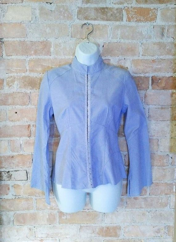 Deconstructed Pastel Goth Blue Corset Jacket Small by NoVeto