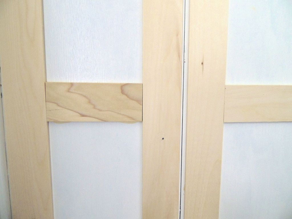 Updating Closet Doors Bi Fold To Paneled French Door Closet Makeover Shaker Style