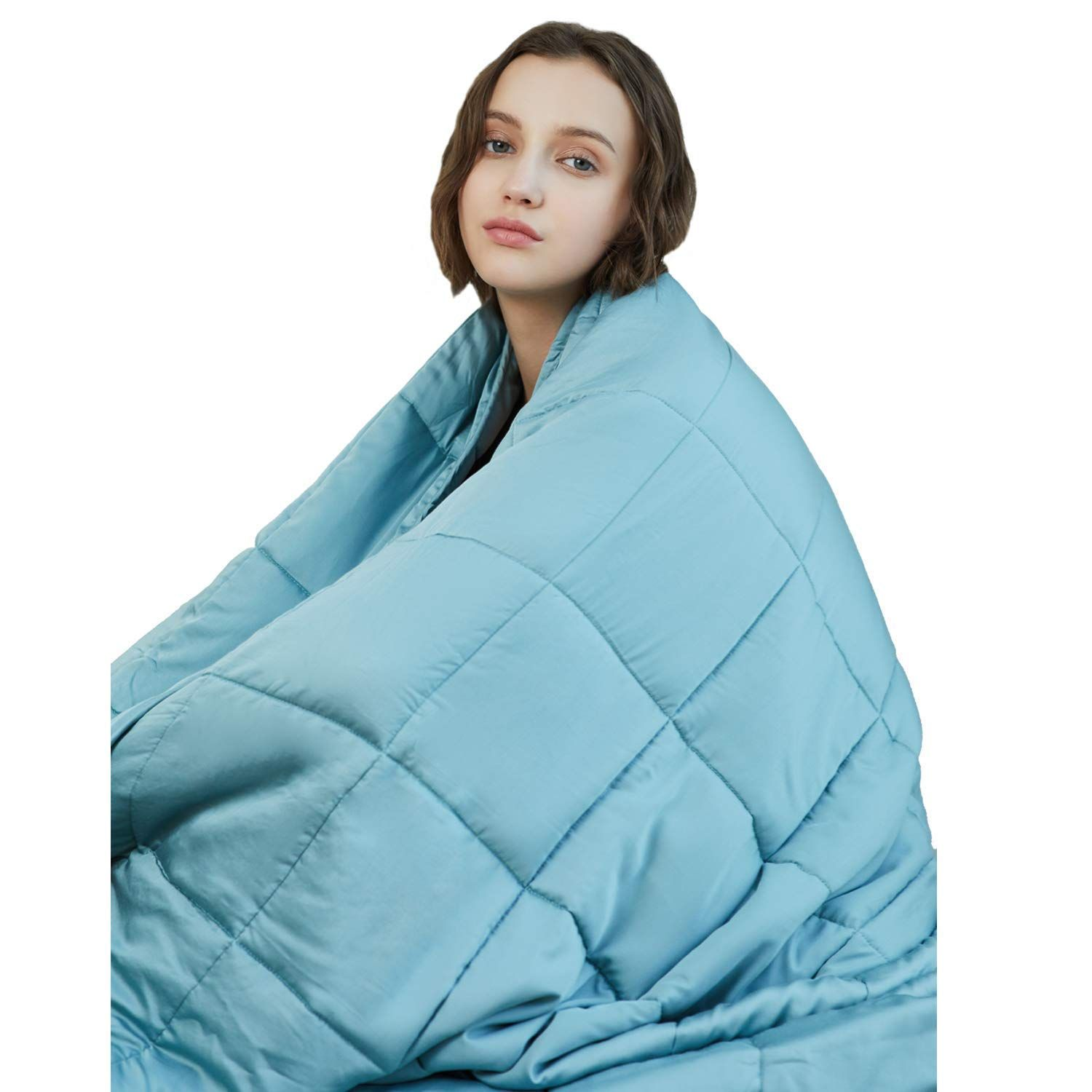 YnM Cooling Weighted Blanket, 100 Natural Bamboo Viscose