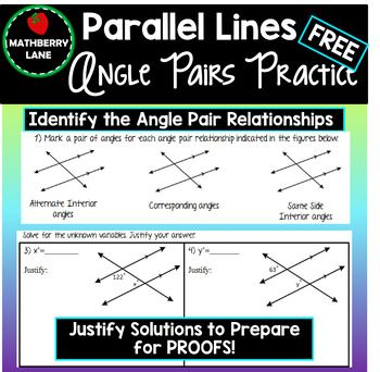 Angle Pair Relationships With Parallel Lines Geometry With Images