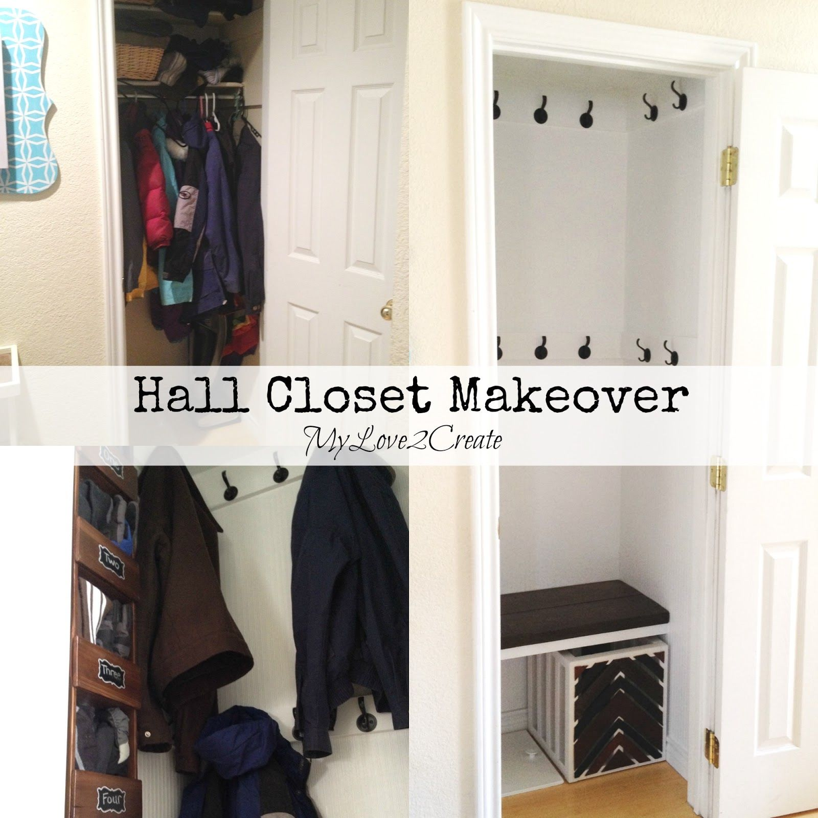 Turn That Builder Grade Coat Closet Into A Beautiful Functional Space!  MyLove2Create, Hall Closet