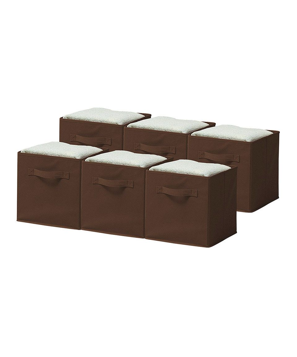 Love This Chocolate Collapsible Storage Cube   Set Of Six By Sorbus On  #zulily!
