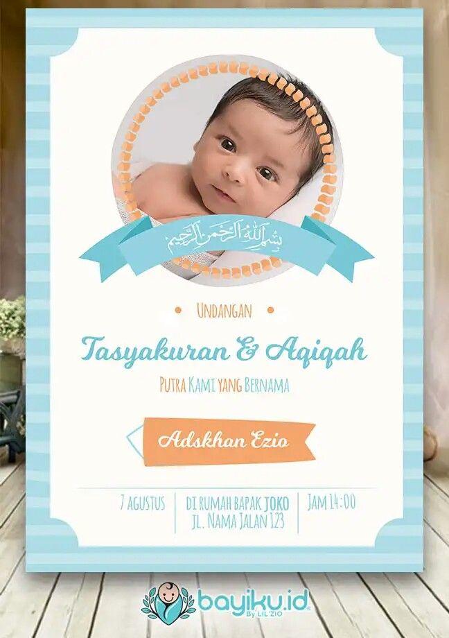 Kartu Undangan Bayi