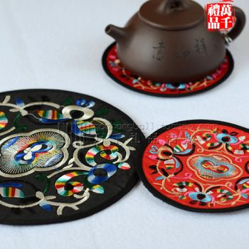 Chinese style embroidery coasters home supplies commercial gift