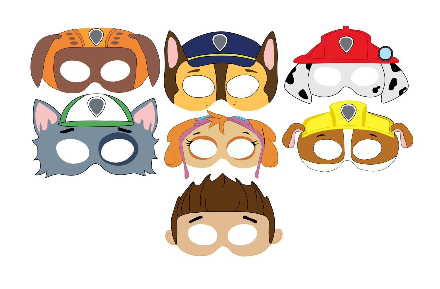 It's just a picture of Handy Paw Patrol Printable Masks
