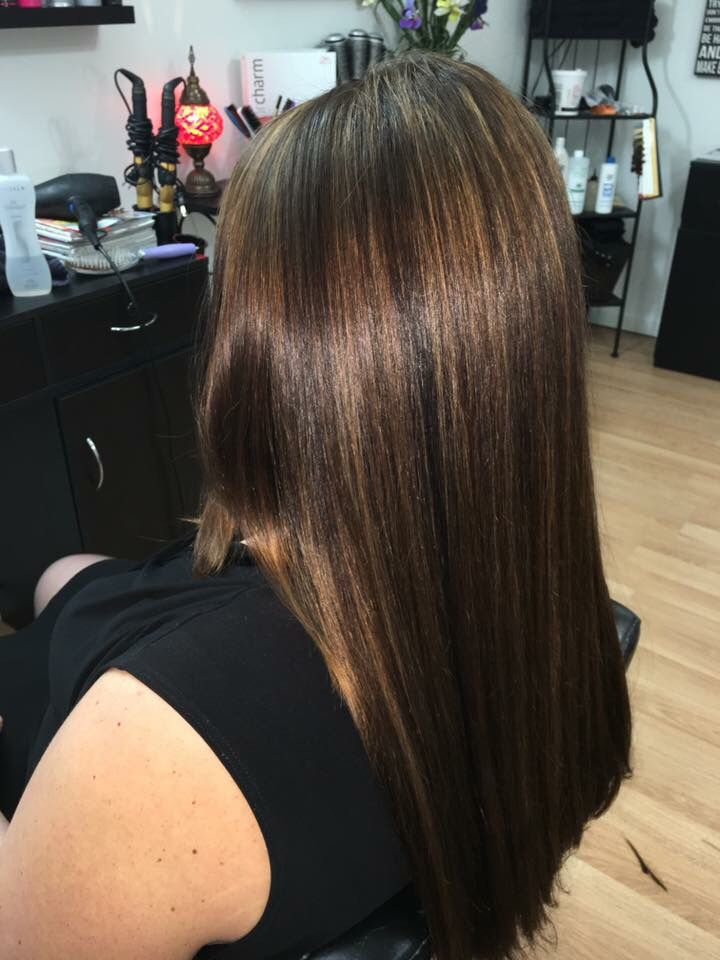 Full Head Of Highlights On Black Hair Toner Used Wella Color Charm