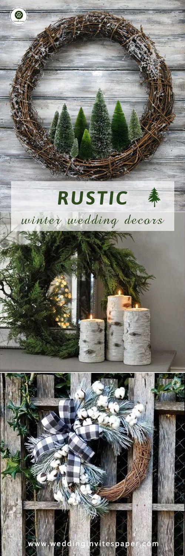 100+ winter rustic wedding ideas diy wreath wedding decors, country barn wedding ideas