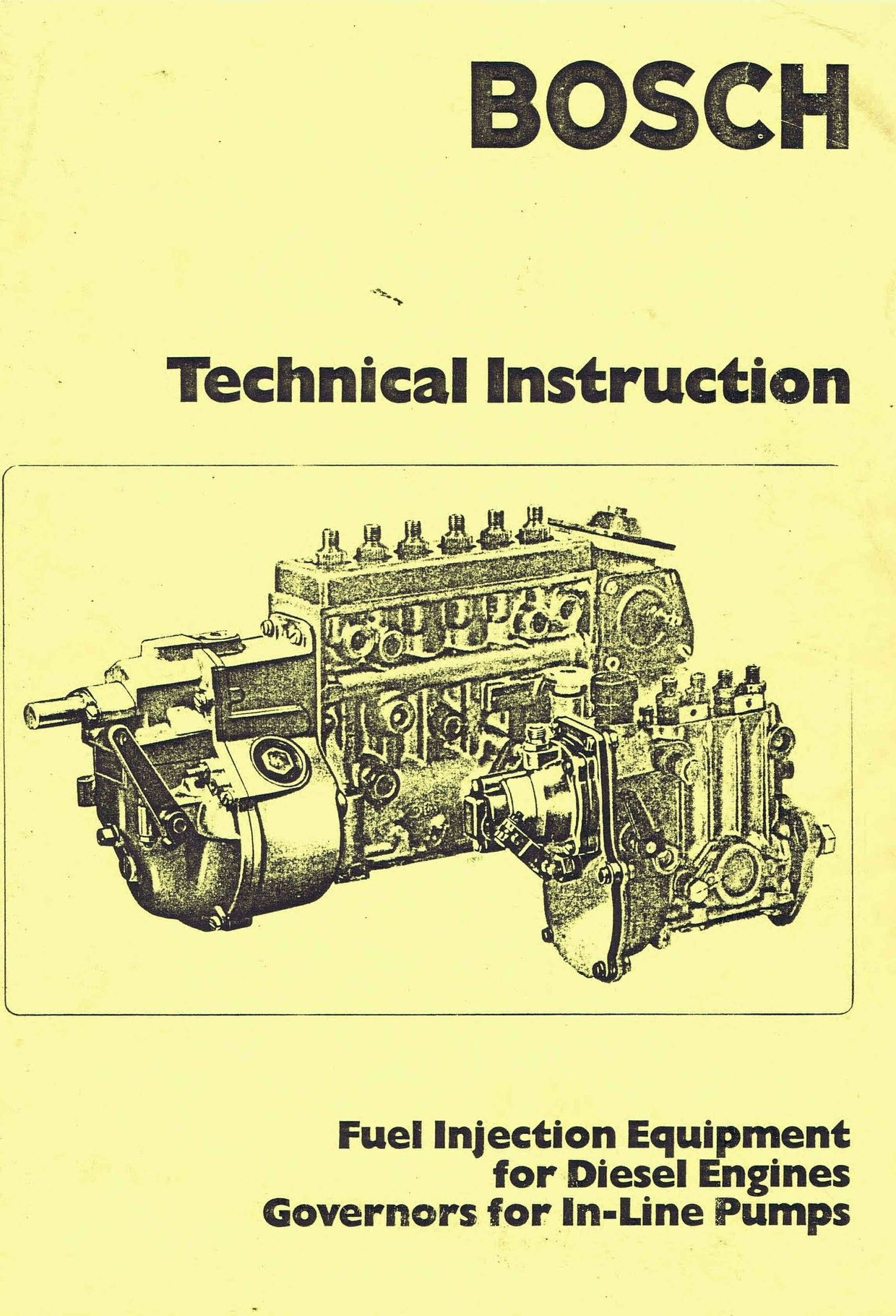 Bosch Diesel fuel Pump Manuals for Mechanics | Manuals | Diesel fuel
