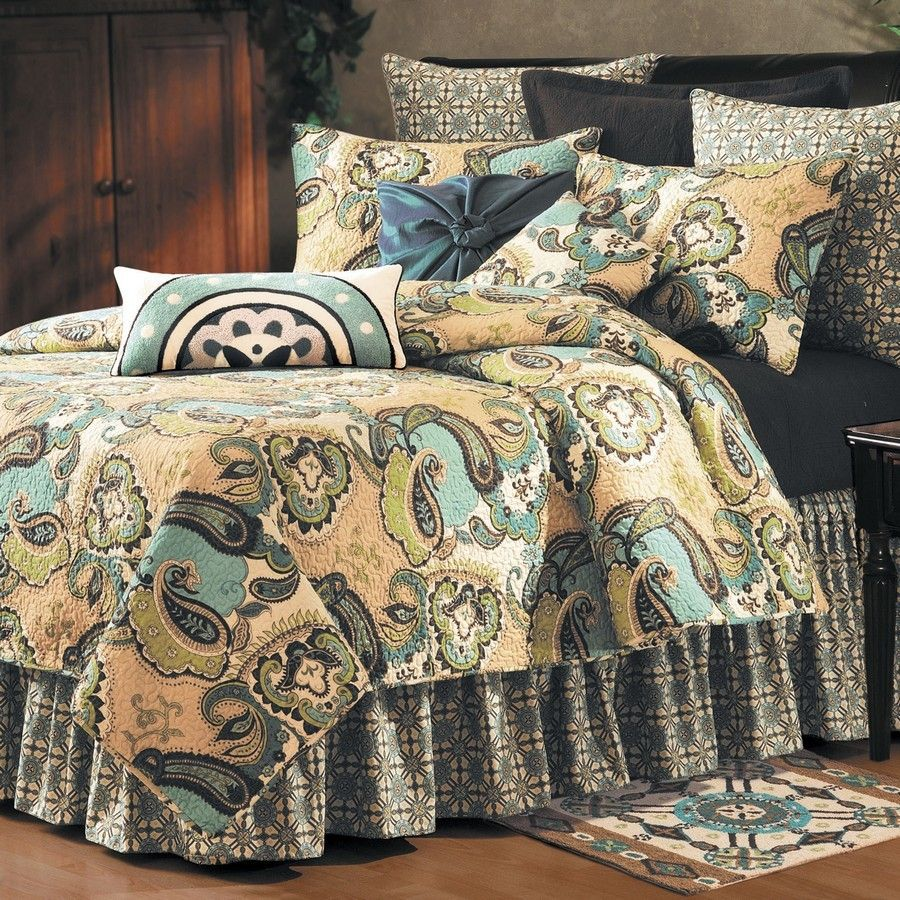 forest quilts full product black king wildflower lone paisley western quilt queen star from decor