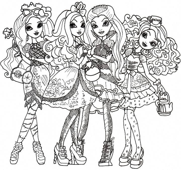 Ever After High Coloring Sheet With Images Coloring Pages