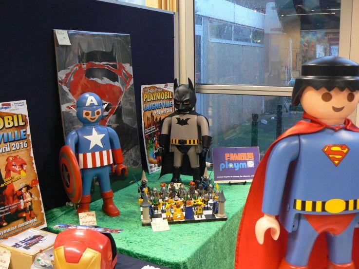 65cm high superman captain america batman playmobil - Batman playmobil ...
